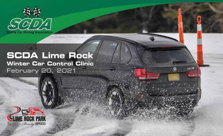 SCDA- WINTER Car Control Clinic-Lime Rock- 2/20/21