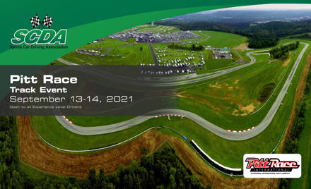 SCDA- Pitt Race- 2 Day Track Event- Sept. 13-14