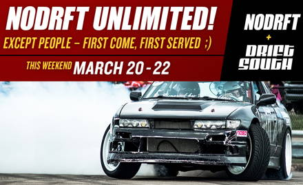 Drift South - NODRFT Unlimited Weekend