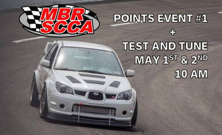 MBR SCCA 2021 Event 1 + Test & Tune