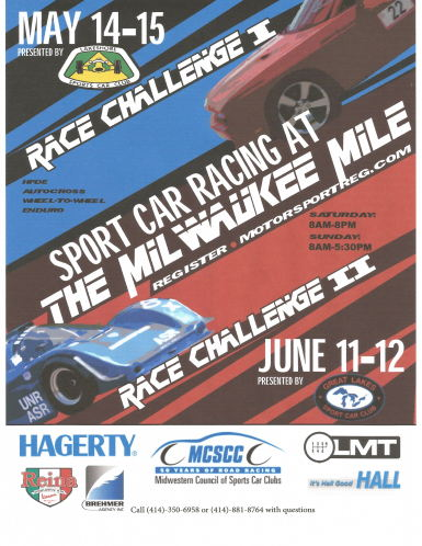 Milwaukee Mile Race Challenge I Autocross info on May 14, 2016 533372  MotorsportReg.com