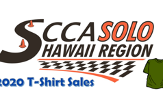 SCCA Hawaii Solo Shirt Sales