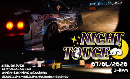 NIGHT TOUGE #1 - July 4th, 2020: 3-11PM