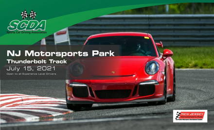 SCDA NJMP Thunderbolt Track Day- July 15th