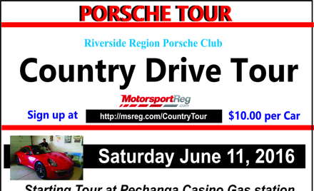 Riverside Region PCA 2016 Country Drive Tour