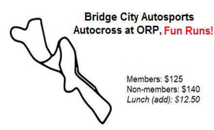 BCA Fun Runs at ORP - Add Sunday! - (AX on Track)