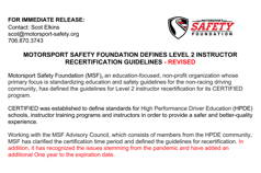 Motorsport Safety Foundation @ Webinar