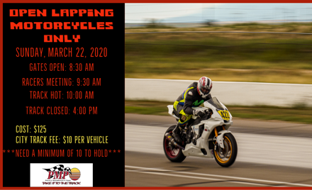 Sunday Open Lapping - Motorcycles Only